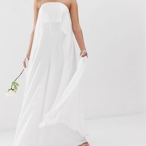 NWT ASOS Petite Floaty Cape Back Wedding Jumpsuit